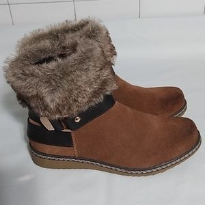 Spring step suede boots